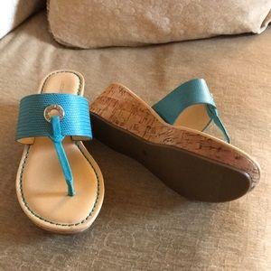 cc05029b41d0f NWOT Liz Claiborne wedge sandals- Size 7